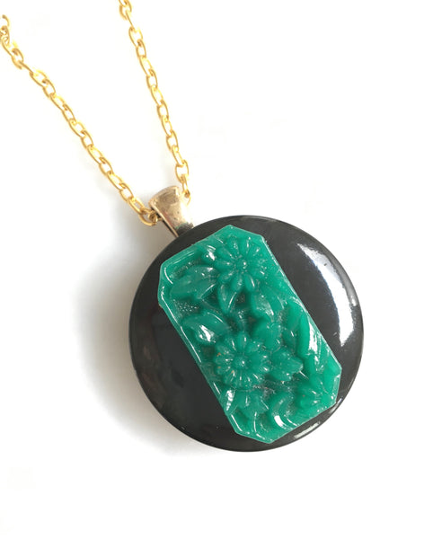 Jade Glass Pendant