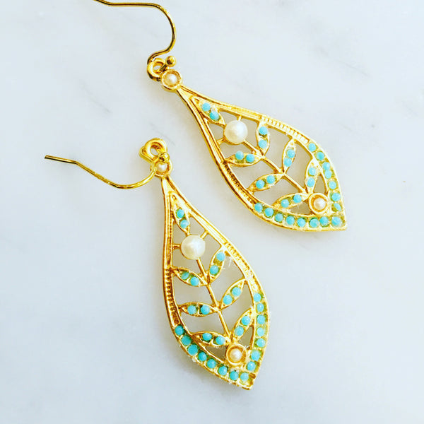 Gold and Turquoise Filigree