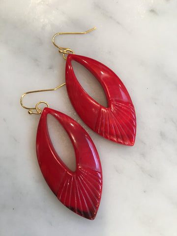 Red Lucite Drops