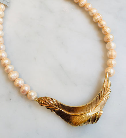 Abstract Wing with Baroque Pearls