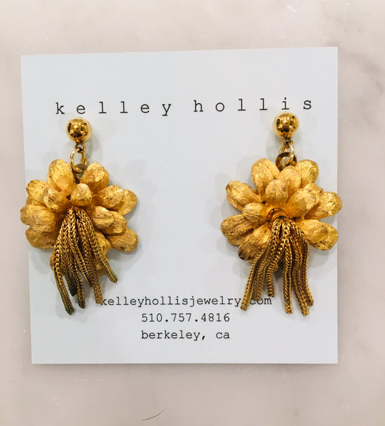 Fringe Flower Earrings