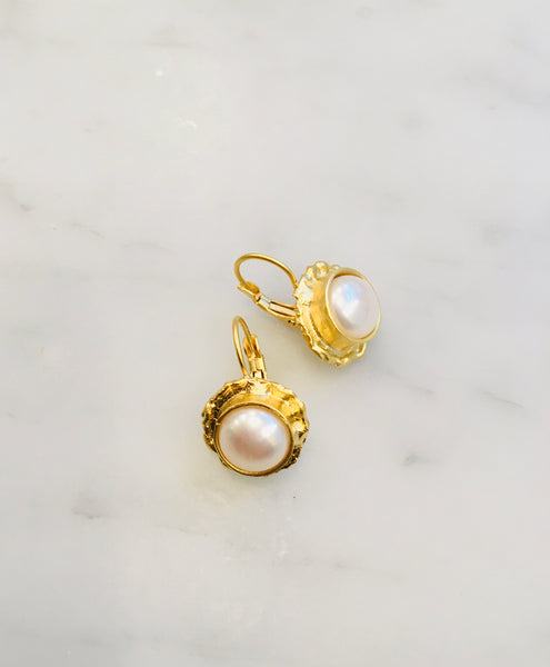 Pearl Earrings, 22ct