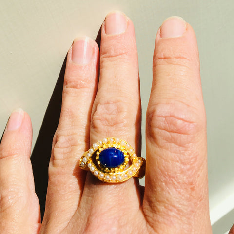 22ct Lapis Ring