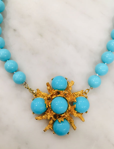 Turquoise Coral Branch