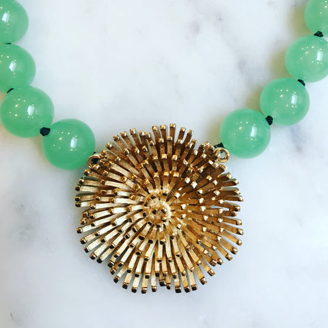 Gold Flower with Jade