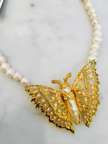 Baroque Pearl Butterfly
