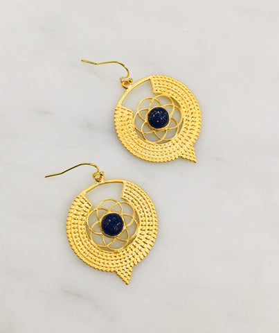 India Lapis Earrings