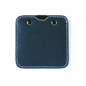 Steel Blue Leather Base with Wallet Pocket