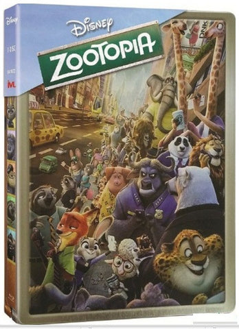 Zootopia 優獸大都會 (2016) (Blu Ray) (Steelbook) (English Subtitled) (Hong Kong Version) - Neo Film Shop