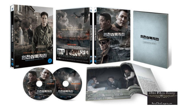 Operation Chromite 代號:鐵鉻行動 (2016) (DVD) (2 Discs) (English Subtitled) (Outbox + Double Case + Photobook) (Extended Limited Edition) (Korea Version)
