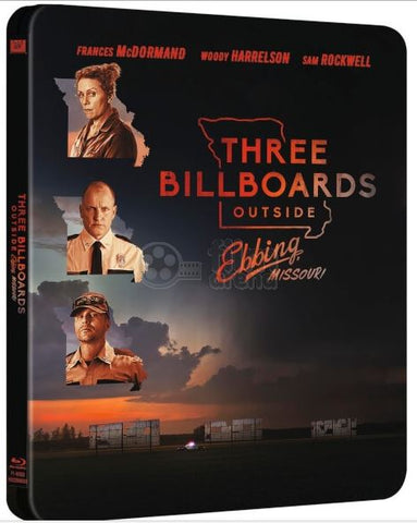 Three Billboards Outside Ebbing, Missouri (2017) (4K Ultra HD + Blu Ray) (Steelbook) (English Subtitled) (Taiwan Version)