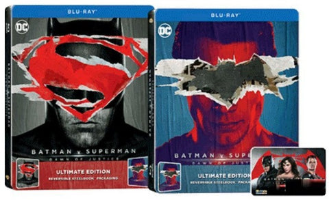 Batman v Superman: Dawn of Justice 蝙蝠俠對超人: 正義曙光 (2016) (Blu Ray) (2-Disc) (Steelbook) (English Subtitled) (Hong Kong Version) - Neo Film Shop - 1