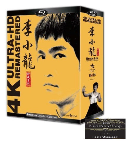 Bruce Lee Legendary 4K Ultra-HD Remastered Collection 李小龍Blu-ray珍藏系列 (Blu Ray) (Box set) (English Subtitled) (Remastered Edition) (Hong Kong Version)
