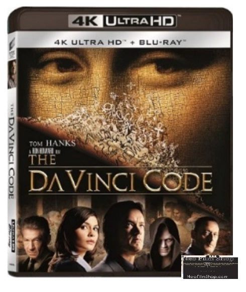The Da Vinci Code (2006) (4K Ultra HD + Blu Ray)  (English Subtitled) (Hong Kong Version)