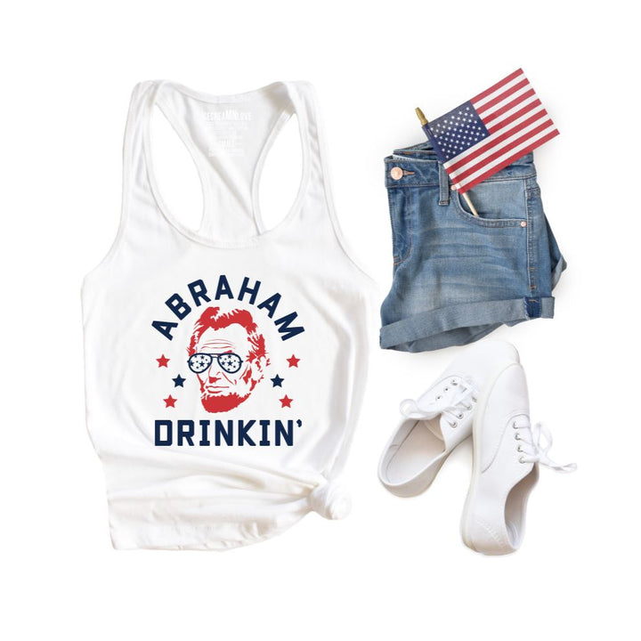 abraham drinkin 4th of July shirt by icecreaMNlove - icecreaMNlove