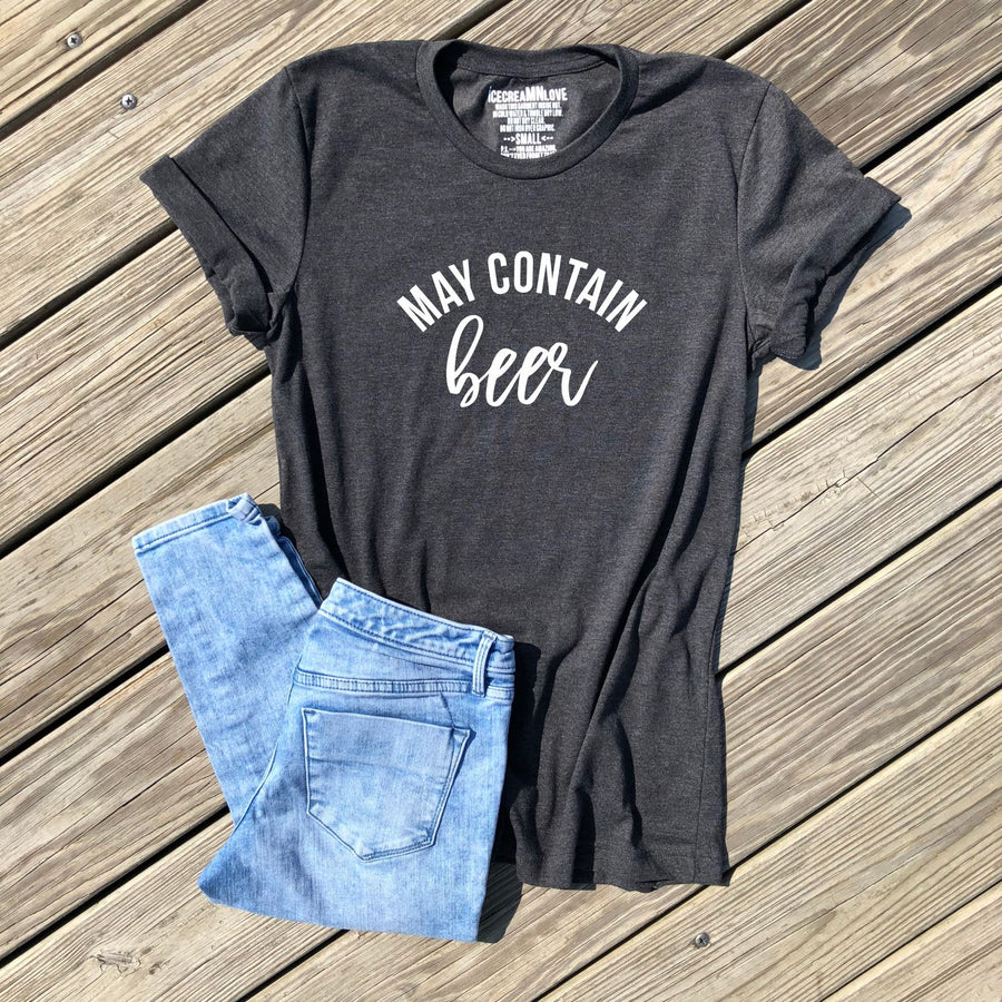 SALE - may contain beer tshirt - icecreaMNlove