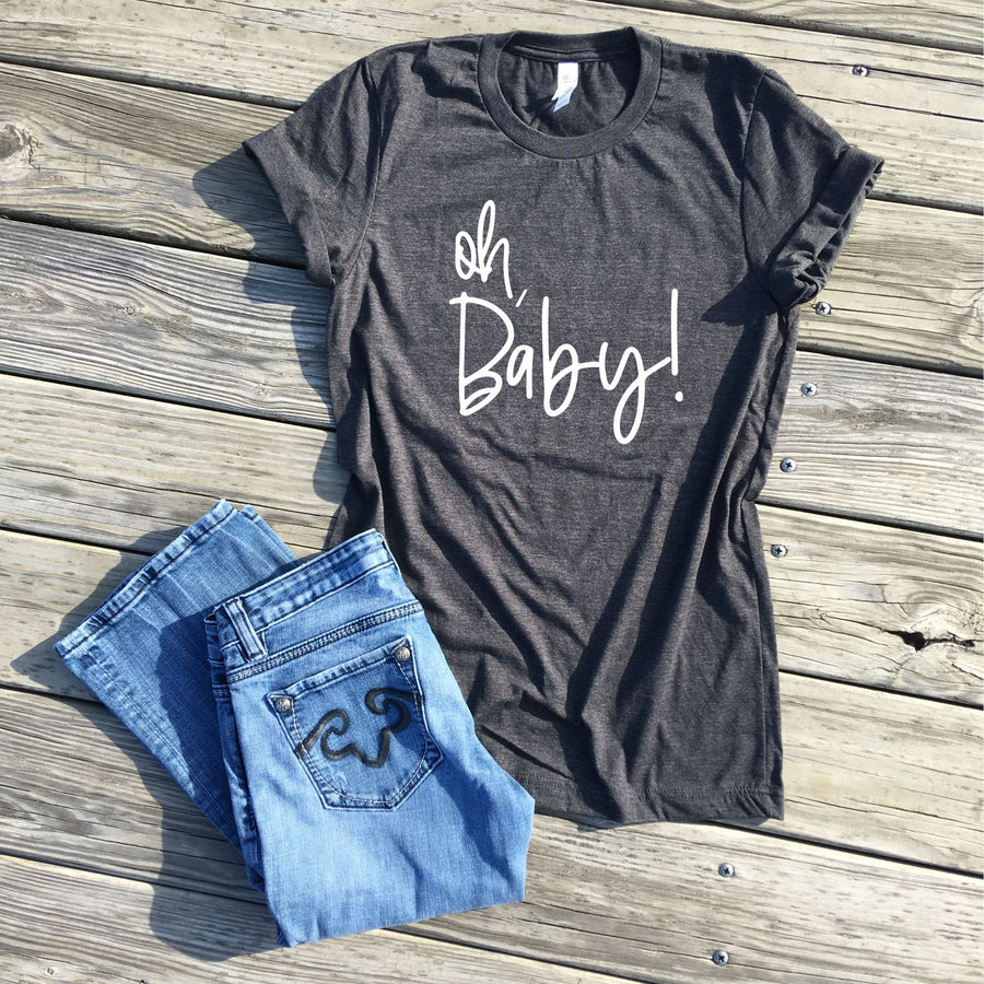 SALE - oh baby pregnancy reveal shirts - icecreaMNlove