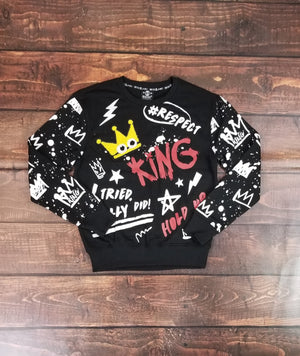 King Multi Print Sweater