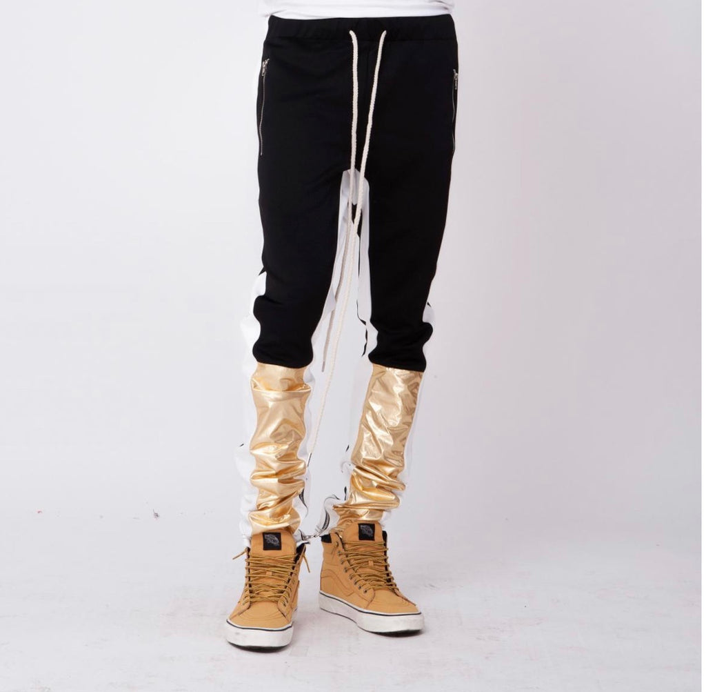 Smokerise Metallic Color Block Track Pants