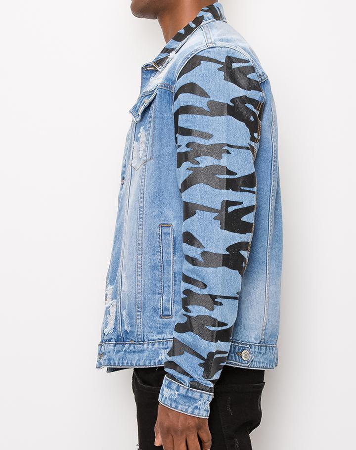 Men's Tiger Cameo Denim Jacket