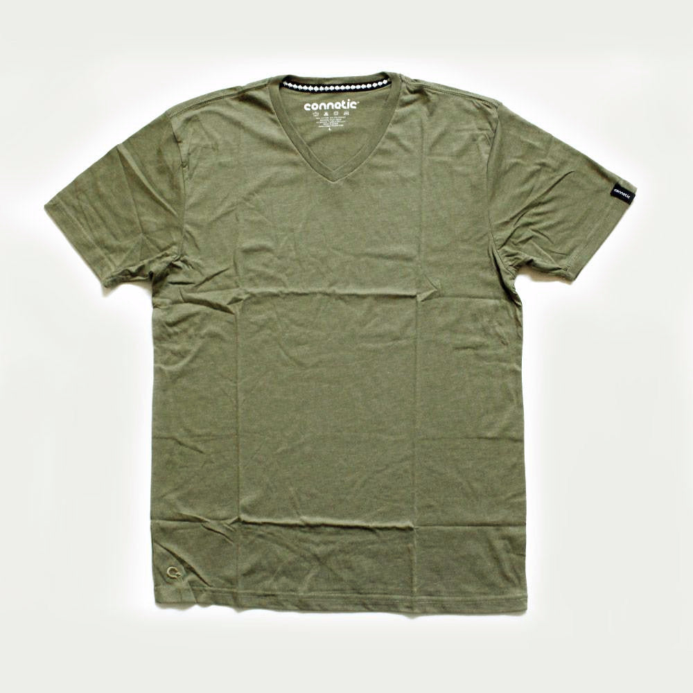 Connetic Army Green V-neck