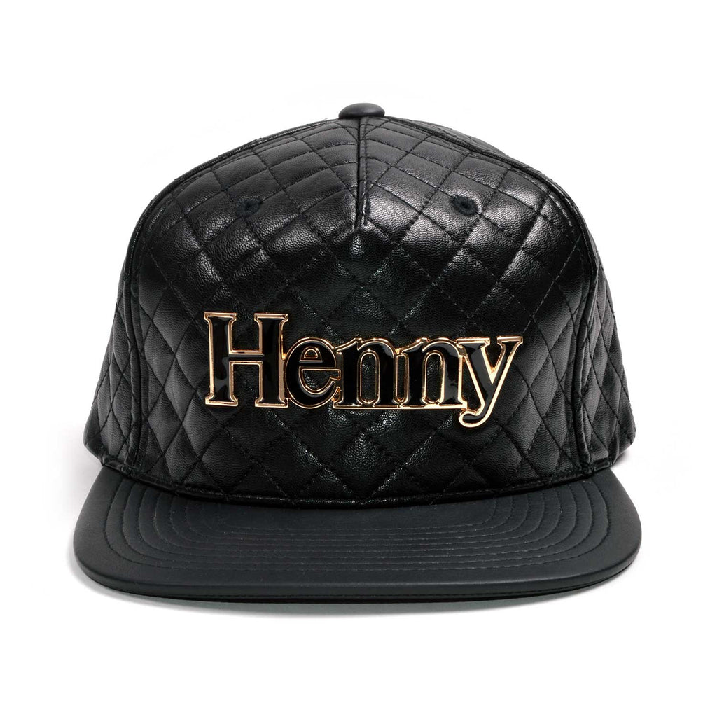 Henny Gold Quilted Strapback
