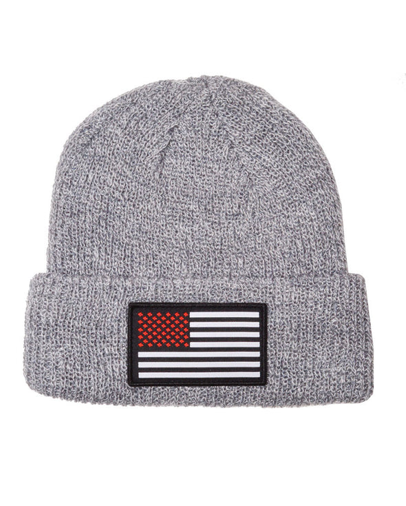 Connetic-Beanie-OldGlory-Heather-RedWhite-Patch