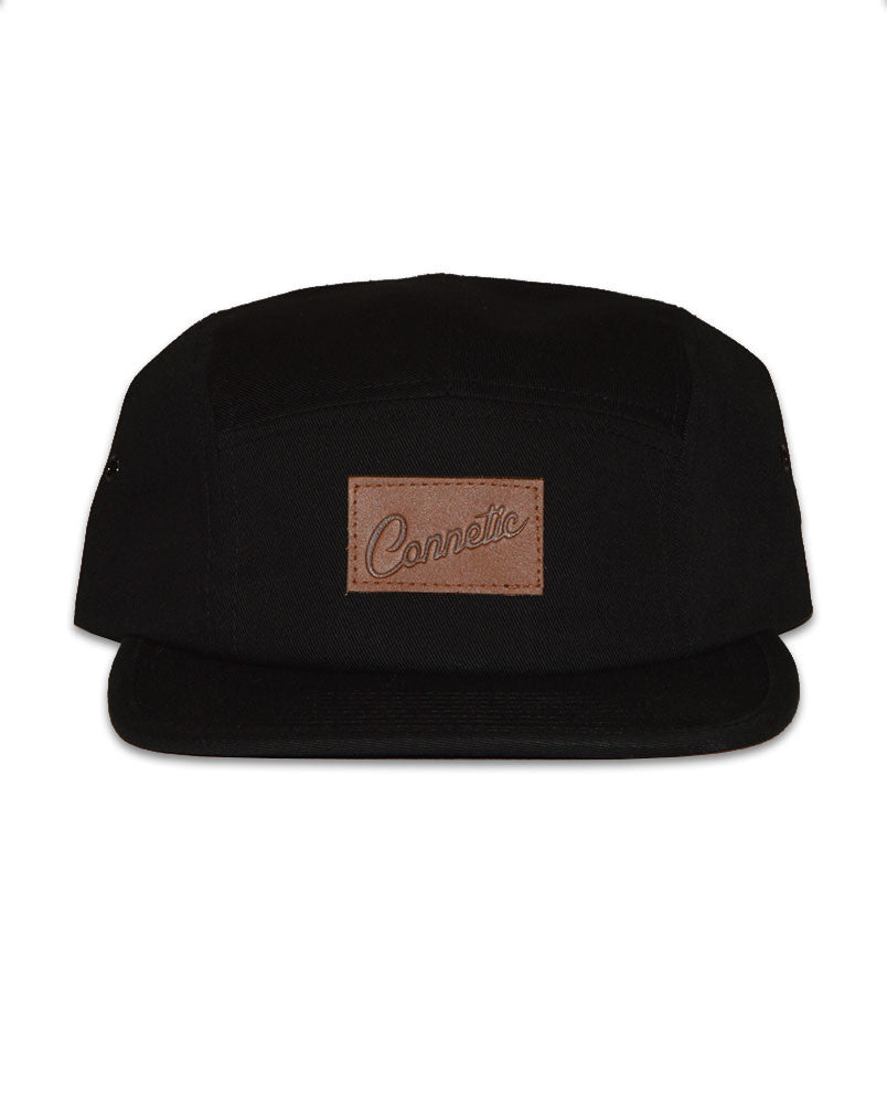 Connetic-Clsc-Leather-Script-5Panel-Black-1