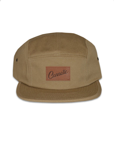 Connetic-Clsc-Leather-Script-5Panel-Khaki-1