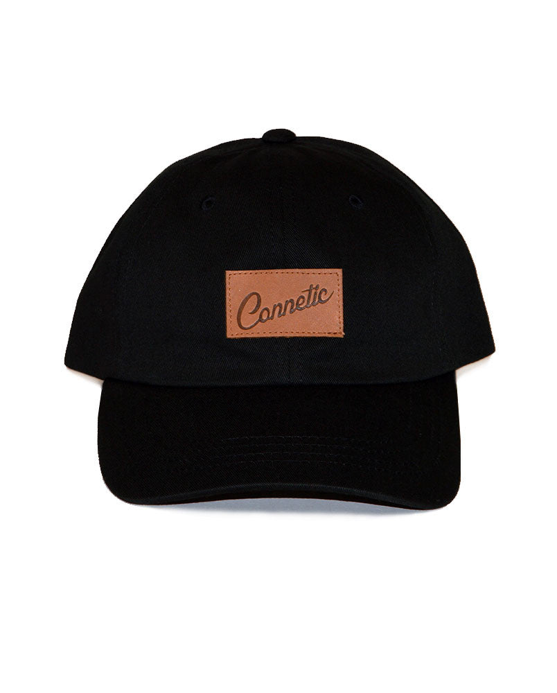 Connetic-Clsc-Leather-Script-LowProfile-Black-1