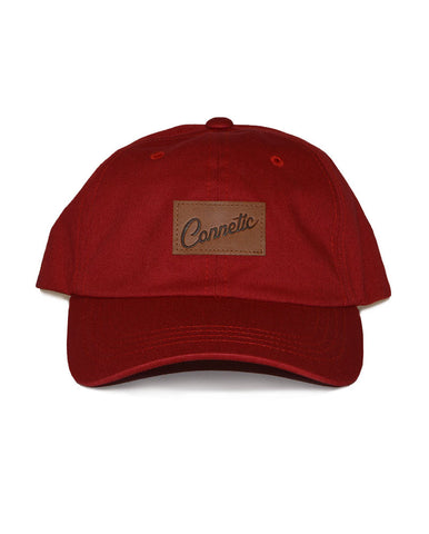 Connetic-Clsc-Leather-Script-LowProfile-Red-1