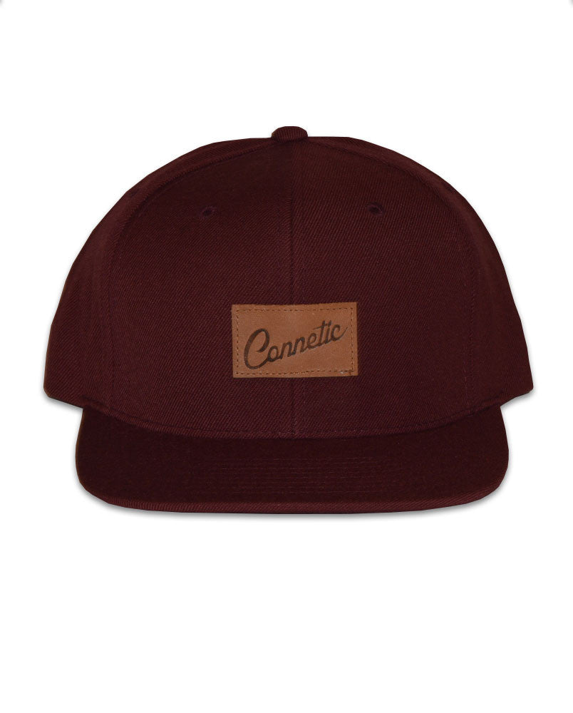Connetic-Clsc-Leather-Script-Snap-Maroon-1