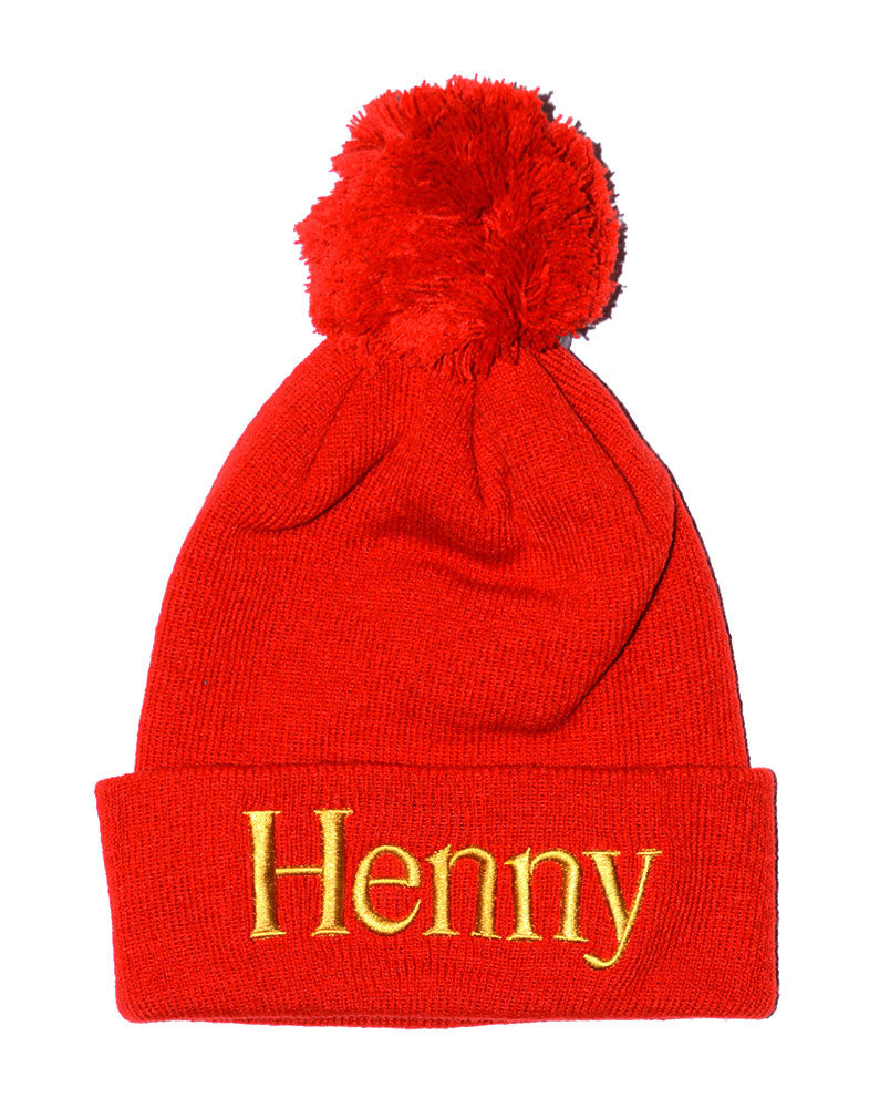 Connetic-Henny-PomBeanie-Red-Gold