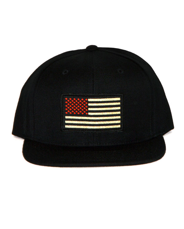 Connetic-OldGlory-Red-Gold-Snapback-Black-1