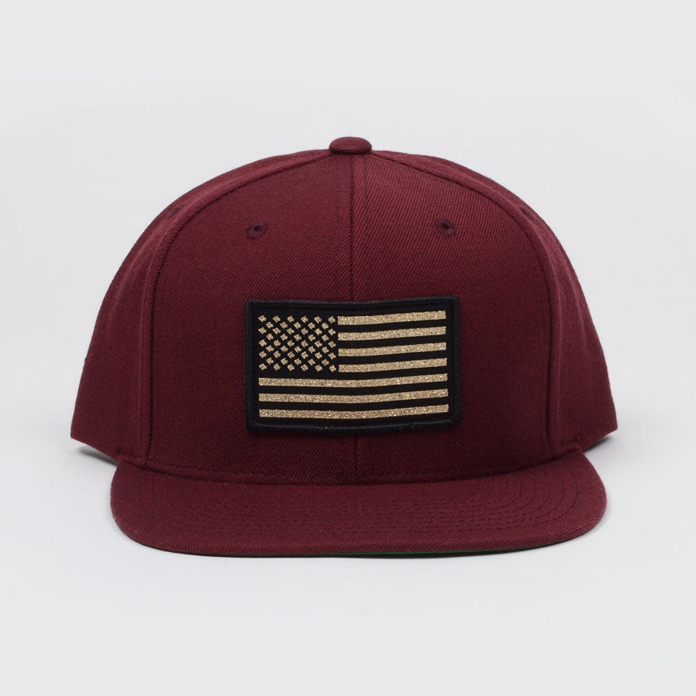 Connetic-OldGlory-Snap-Maroon-Gold