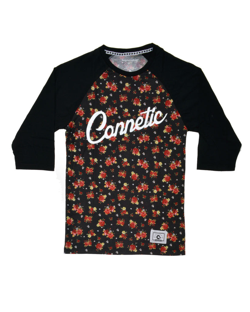 Connetic-Rose-Raglan-Black-Sleeve-Front
