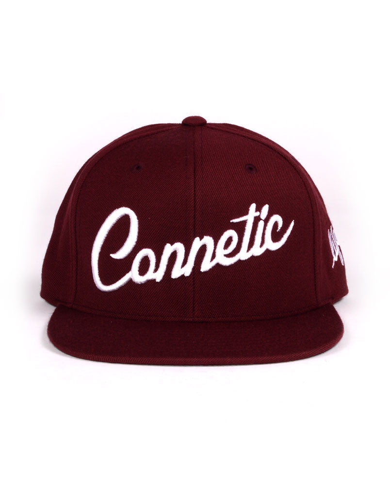 Connetic-Script2-Maroon-white