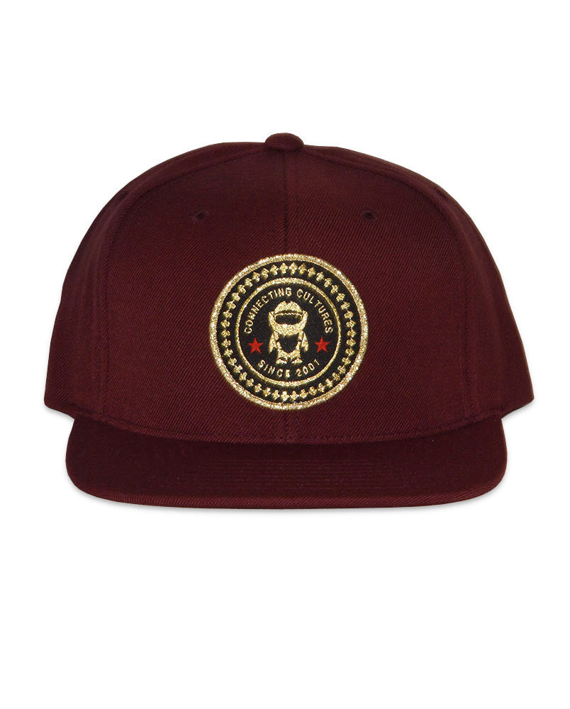 The Connetic Seal Snapback in All Maroon and all Gold Seal. 306e5615c82