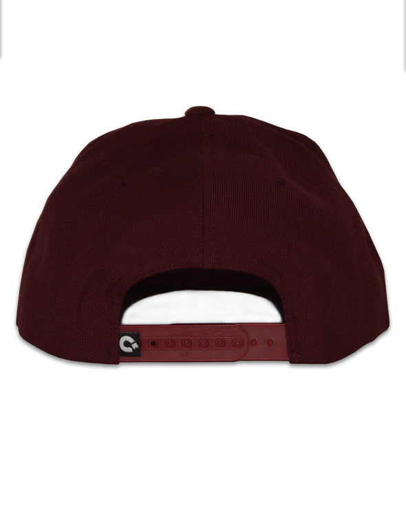 Connetic-Seal-gold-Snapback-Maroon-2