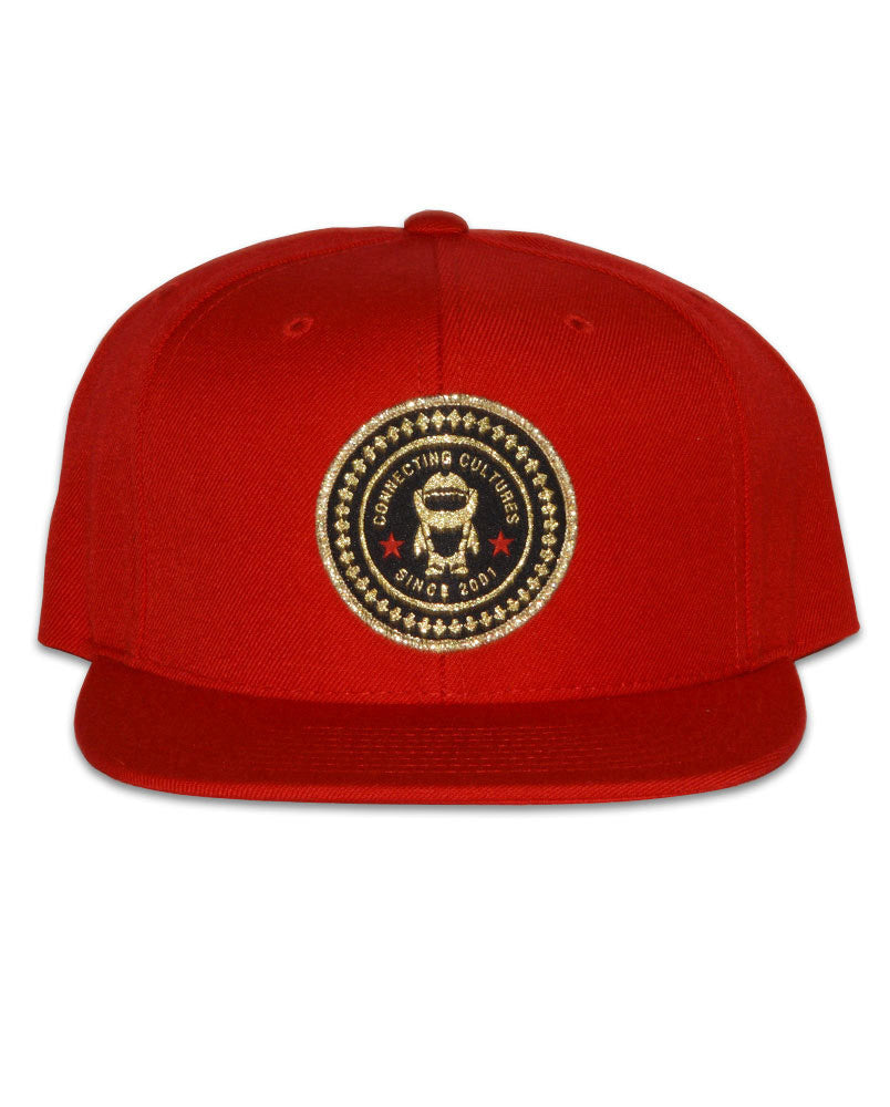 The Connetic Gold Seal Snapback in All Red and All Gold Seal. d43f624fca9