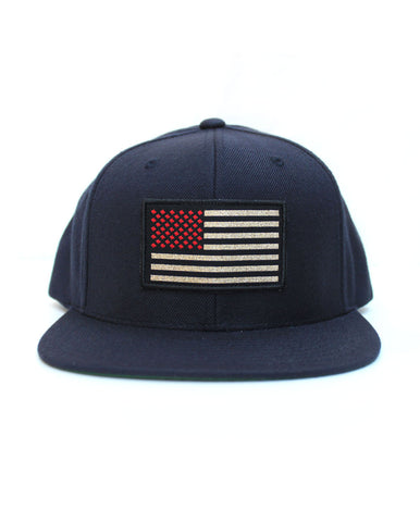 Connetic-Snapback-OldGlory-Red-Gold-Navy-Front