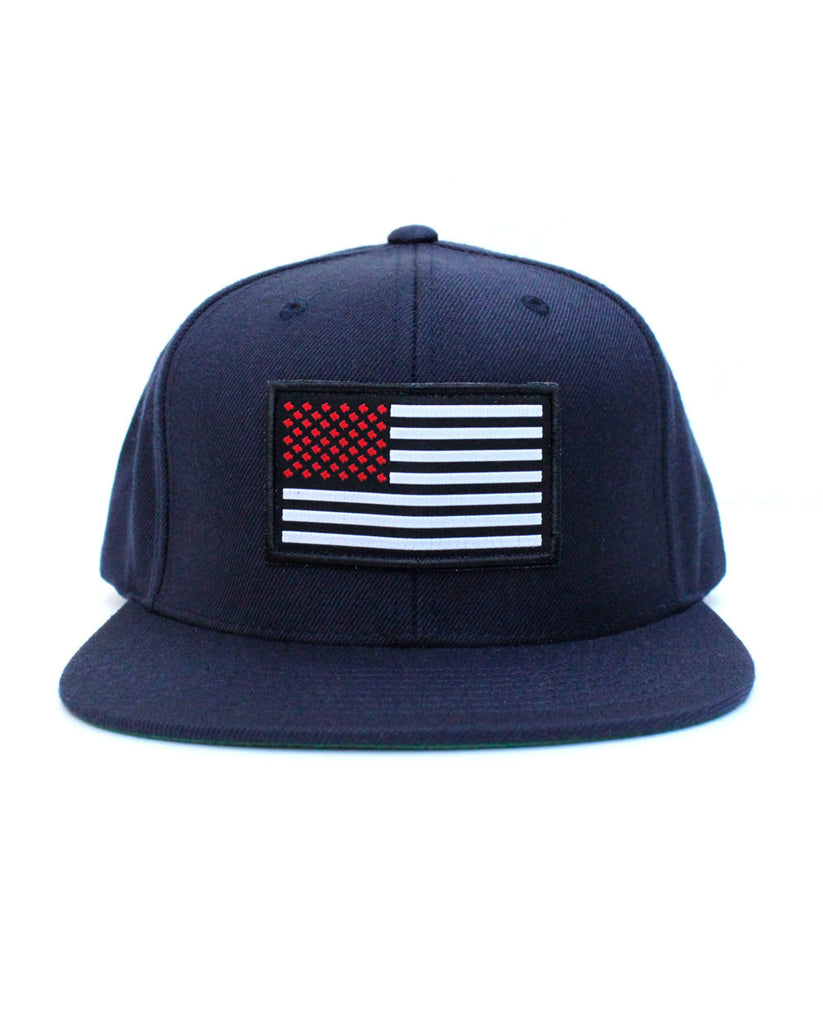 Connetic-Snapback-OldGlory-Red-Silver-Navy-Front
