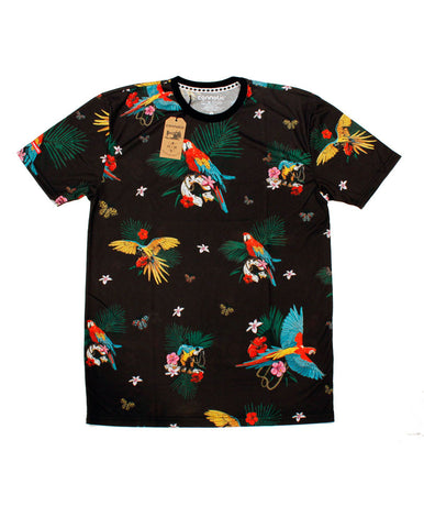 Connetic-Spring15-All-Over-Parrot-Tee-Black