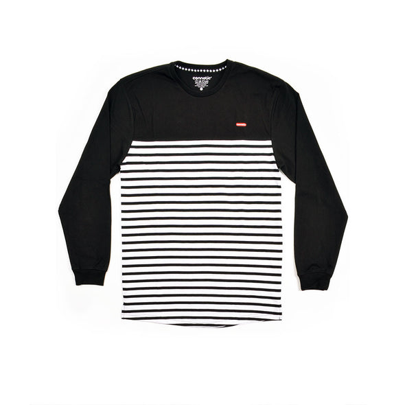Deck Logo Stripe Long Sleeve Tee