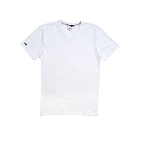Deck Logo White Premium V-neck
