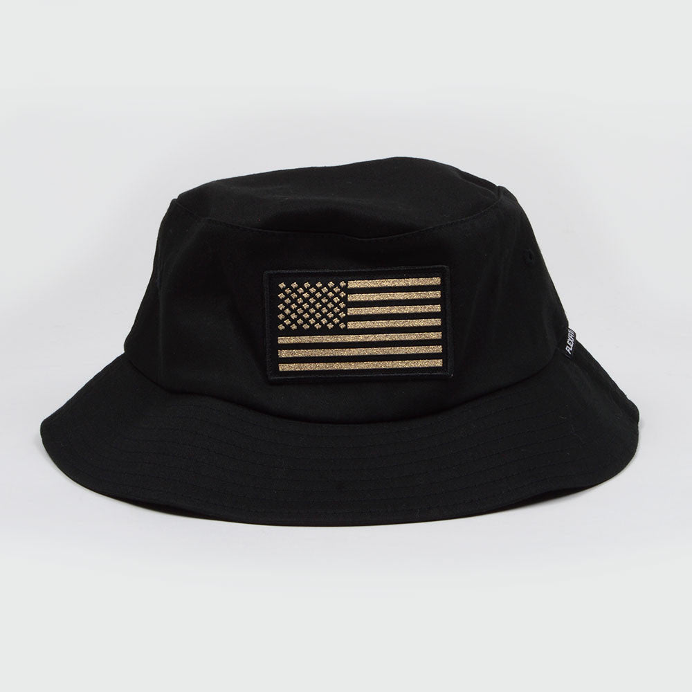 Connetic-bucket-oldglory-black-gold