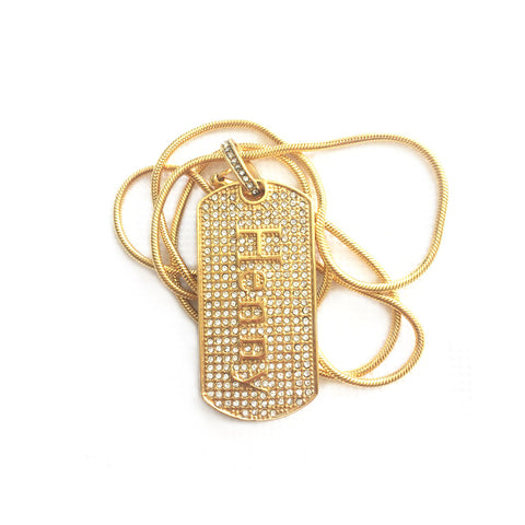 Henny Dog Tag Necklace