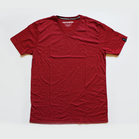 Connetic Vneck Maroon