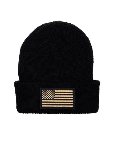 connetic-beanie-old-glory-gold-black