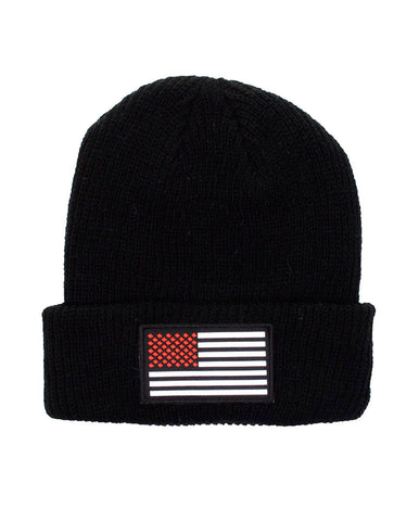 connetic-beanie-old-glory-red-black